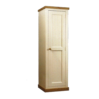 Newest Single Pine Wardrobes For Single Full Hanging Wardrobe With Chunky Pine Top & Painted Finish (View 3 of 15)