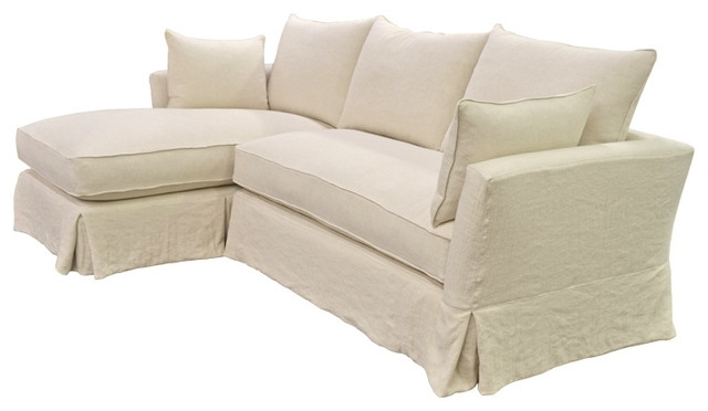 Newest Slipcovered Sofas With Chaise With Slipcover Sectional Sofa With Chaise – Visionexchange (View 4 of 15)