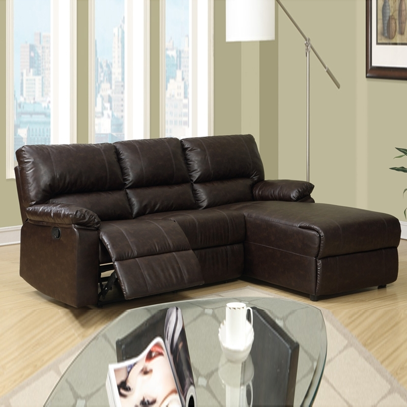Newest Small Sectionals With Chaise Within Sectional Sofa Design: Amazing Small Reclining Sectional Sofa (Gallery 7 of 15)