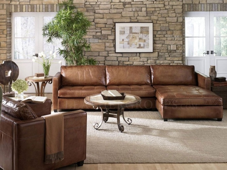 Newest Sofa Chaise Sectionals Inside Sectional Sofa Design: Small Leather Sectional Sofa Chaise (View 6 of 15)