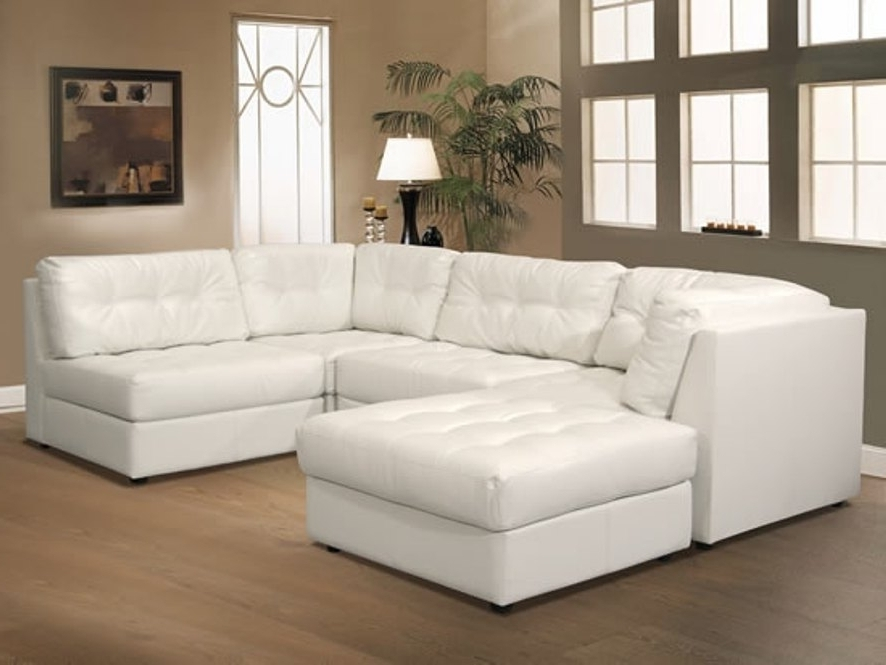 Newest Sofa White Lounger Fabric Contemporary Leather Modular Sectional For Leather Modular Sectional Sofas (View 10 of 10)