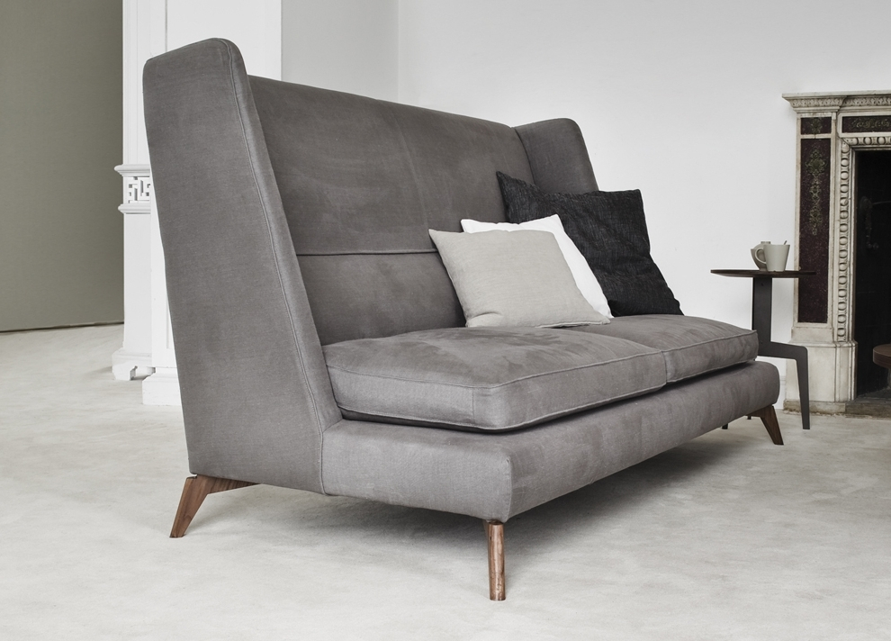 Newest Sofas With High Backs Throughout Vibieffe Class High Back Sofa (View 6 of 10)