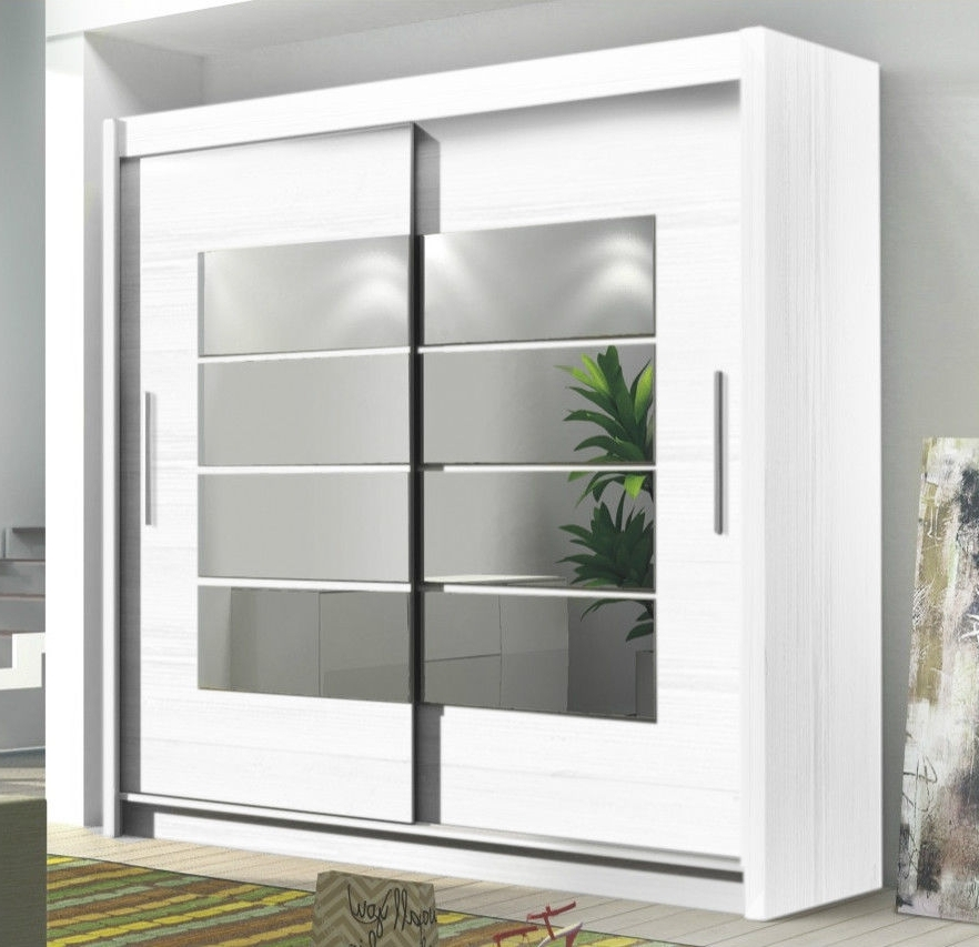 Newest Tall Wardrobes Throughout Instrument Room4 White Modern Large Wide Tall 2 Sliding Door (View 11 of 15)
