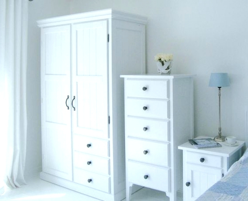 Newest Tall White Wardrobes Intended For Wardrobes ~ Tall Wardrobes With Drawers Manhattan Double Wardrobe (View 9 of 15)