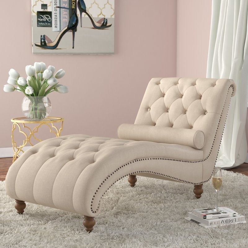 Newest Tufted Chaise Lounge Chairs Pertaining To House Of Hampton Yarmouth Chaise Tufted Lounge Chair & Reviews (View 5 of 15)
