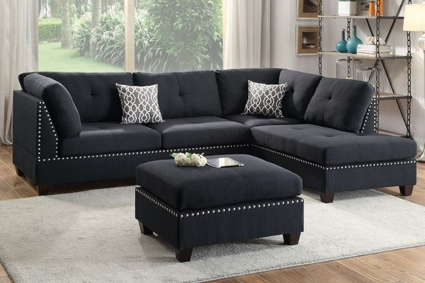 Newest Visalia Ca Sectional Sofas With Regard To Beautiful Nailhead Sectional With Ottoman Included (furniture) In (View 3 of 10)