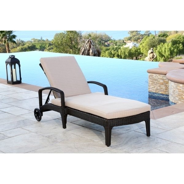 Newport Chaise Lounge Chairs In Newest Abbyson Newport Outdoor Wicker Chaise Lounge – Free Shipping Today (View 7 of 15)