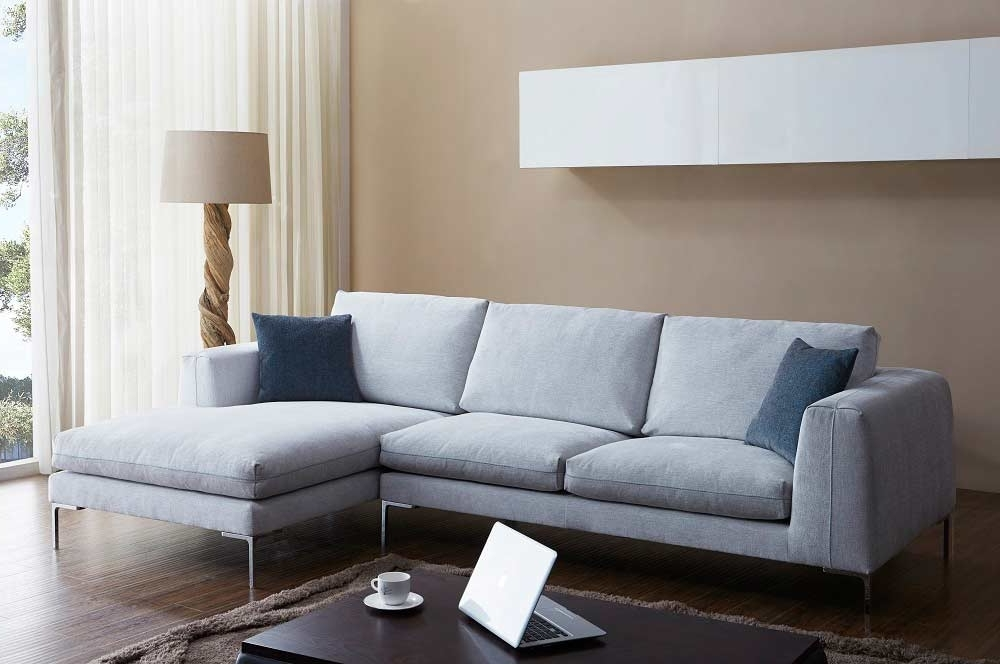 Nj Sectional Sofas Intended For Best And Newest Off White Fabric Sectional Sofa Nj Blanca (View 5 of 10)