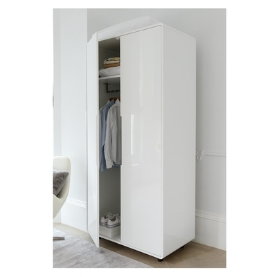 Notch Wardrobe Two Door White – Dwell With Regard To Current Two Door White Wardrobes (View 7 of 15)
