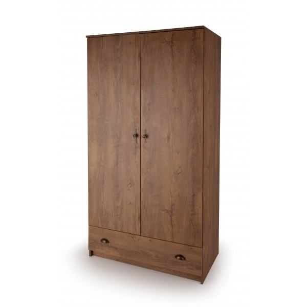 Oak Wardrobes For Sale For Well Liked Cheap Cotswold Dark Oak 2 Door 1 Drawer Wardrobe For Sale Online (Gallery 6 of 15)