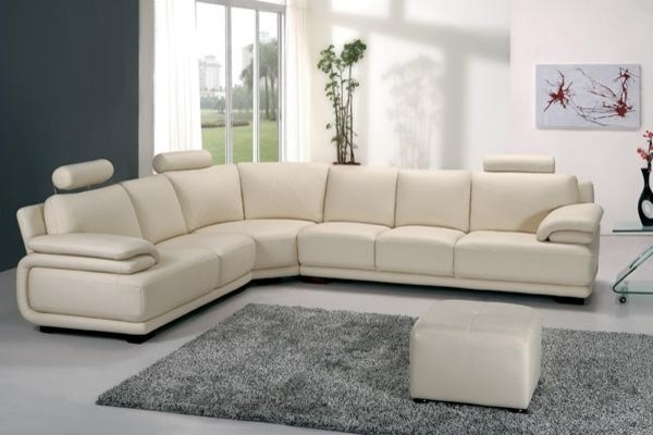 Off White Leather Sofas Pertaining To Favorite Terrific White Sofa Leather Modern Off White Leather Sectional (View 7 of 10)