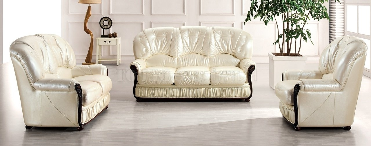 Off White Leather Sofas Within Most Popular Brilliant Leather White Sofa Sofa Inspiring Off White Leather Sofa (Gallery 6 of 10)