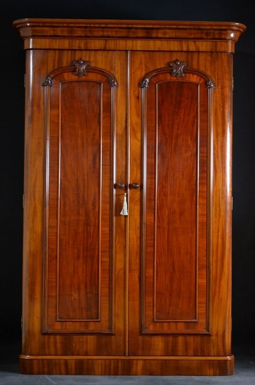 Old Fashioned Wardrobes Within Well Liked Victorian Double Wardrobe – Mahogany Wardrobe – Antiques Atlas (View 13 of 15)
