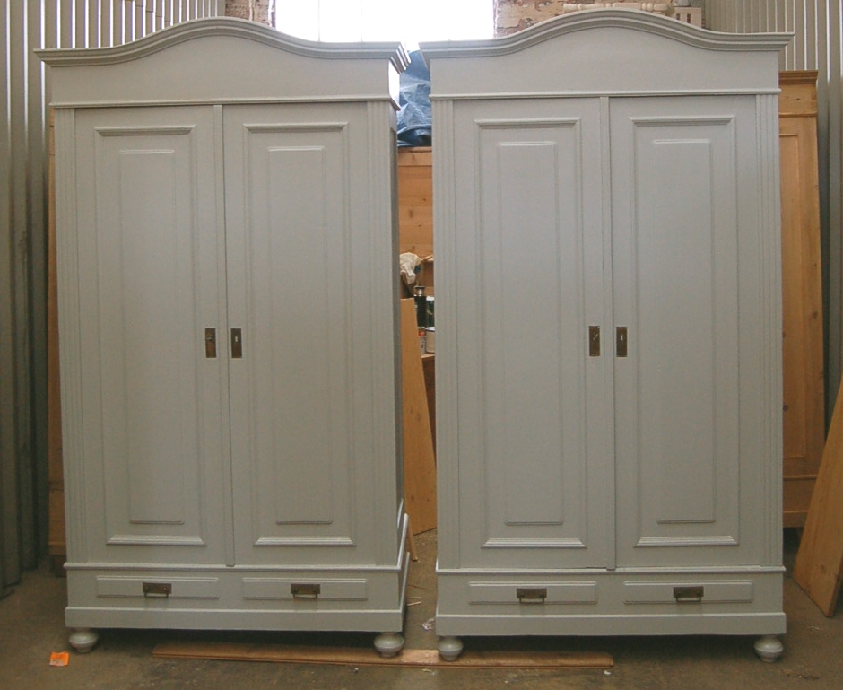 Old Pine Furniture: Hand Painted Wardrobe In Popular Farrow And Ball Painted Wardrobes (View 11 of 15)
