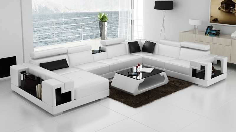 Olympian Sofas Novara White Leather Corner Sofa – Sectional Sofas Regarding Most Recent White Leather Corner Sofas (View 6 of 10)
