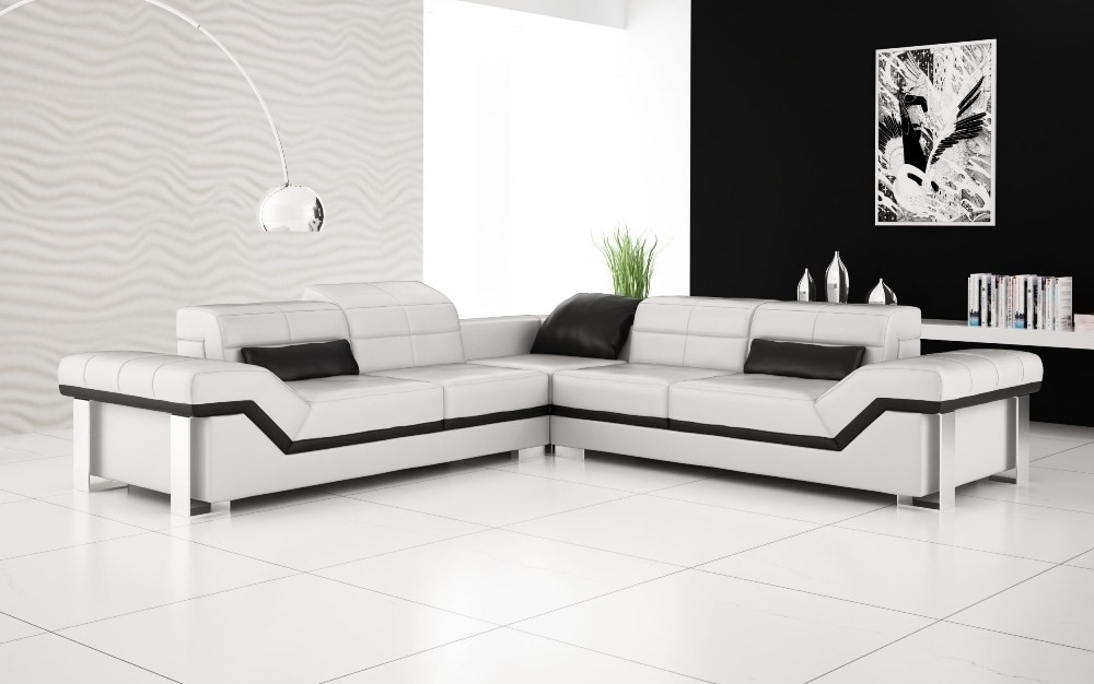 Olympian Sofas Rimini White Leather Sofa Throughout Most Current White Leather Corner Sofas (View 7 of 10)