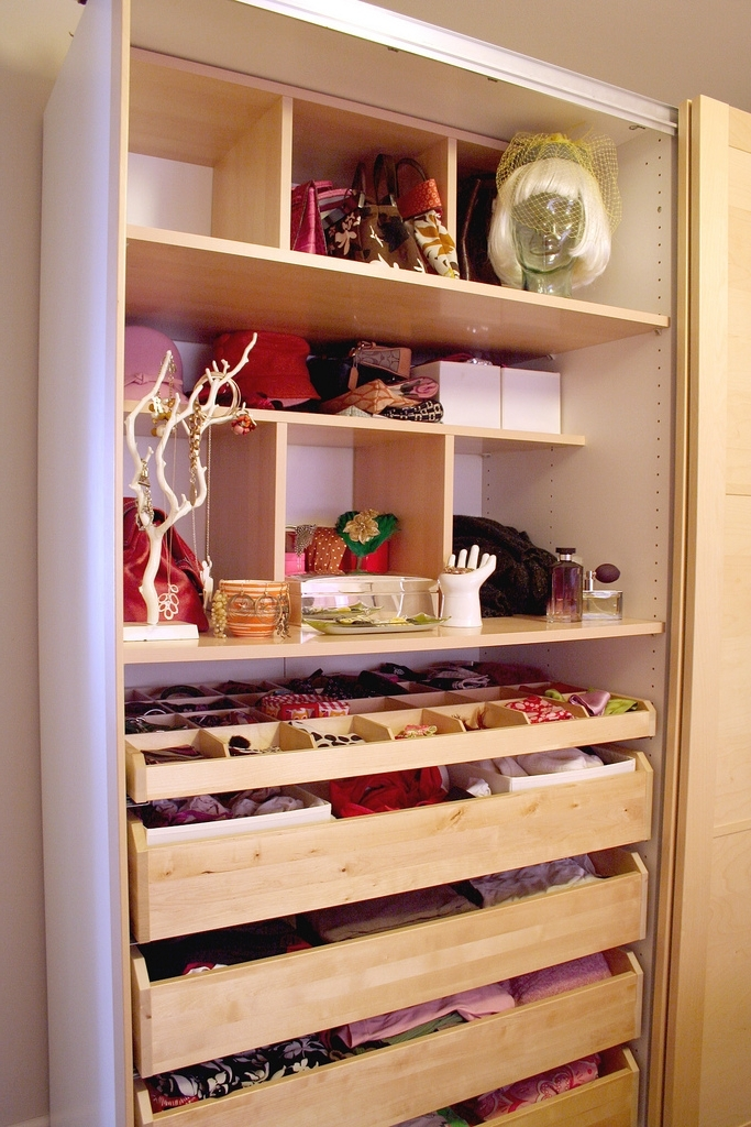 Organised Wardrobe Shelves And Drawers: Declutter, Tidy And In Current Drawers And Shelves For Wardrobes (View 13 of 15)