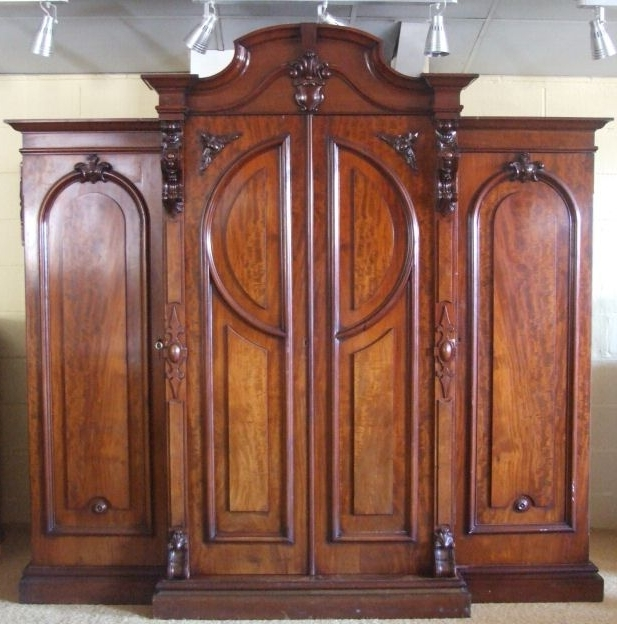 Ornate Wardrobes In Most Popular Early Victorian Combination Wardrobe From Harbour Antiques (View 12 of 15)
