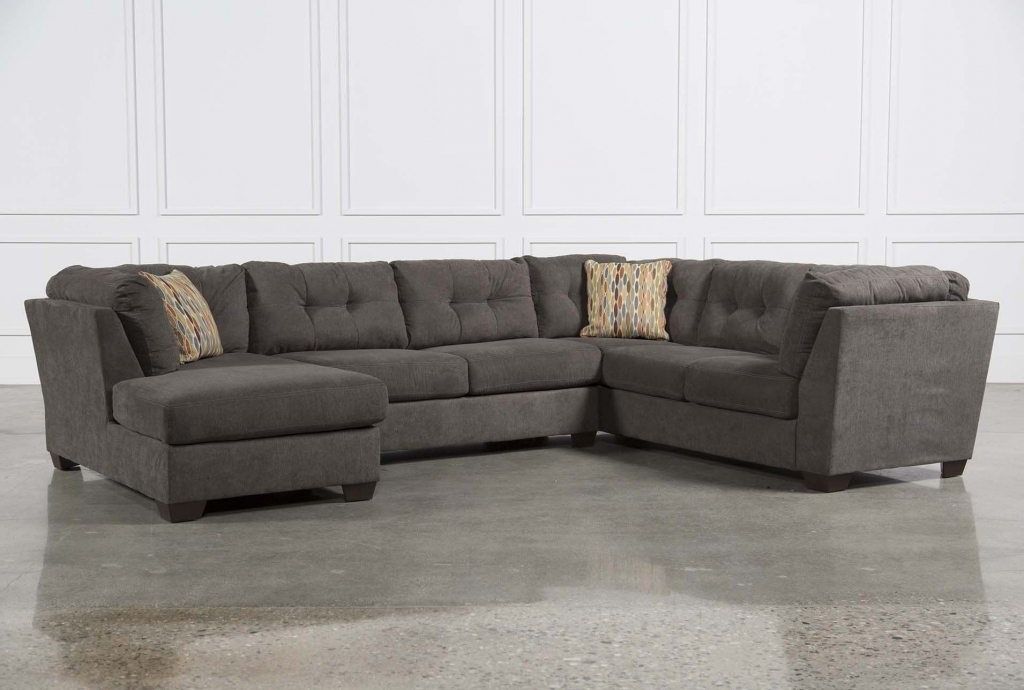 Oshawa Sectional Sofas Throughout Fashionable Furniture: Microsuede Sectional Awesome Modern Sectional Sofa Grey (View 8 of 10)
