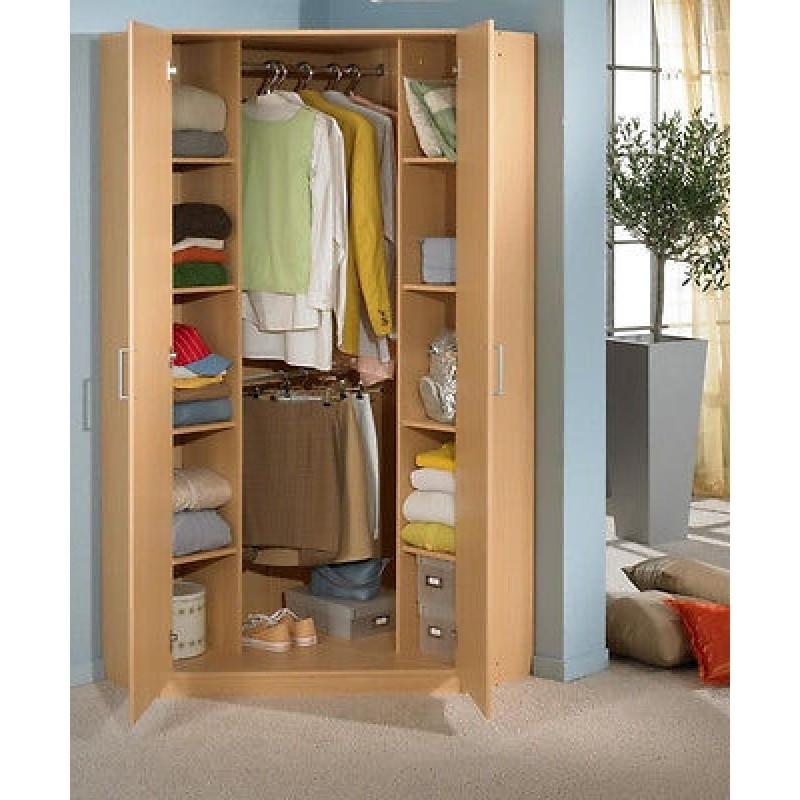 Otthon Inside 2 Door Corner Wardrobes (View 12 of 15)