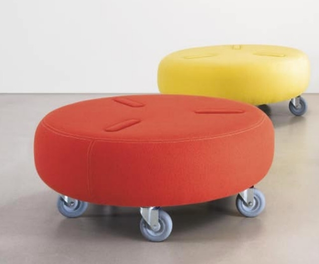 Ottomans With Wheels Pertaining To Preferred Glamorous Ottomans On Wheels 62 About Remodel Interior Design (View 6 of 10)