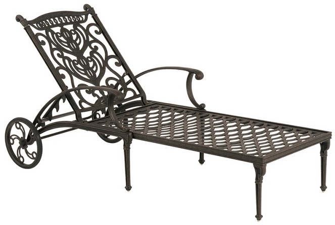 Outdoor Cast Aluminum Chaise Lounge Chairs Regarding 2017 Shop Grand Tuscanyhanamint Luxury Cast Aluminum Patio (Gallery 11 of 15)