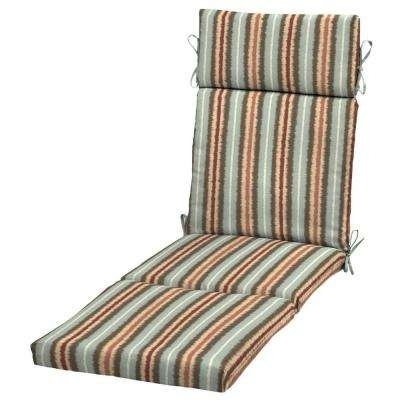 Outdoor Chaise Cushions With Most Current Chaise Lounge Cushions – Outdoor Cushions – The Home Depot (View 11 of 15)