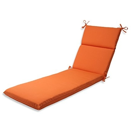 Outdoor Chaise Cushions Within Most Recently Released Amazon: Pillow Perfect Indoor/outdoor Chaise Lounge Cushion (View 13 of 15)