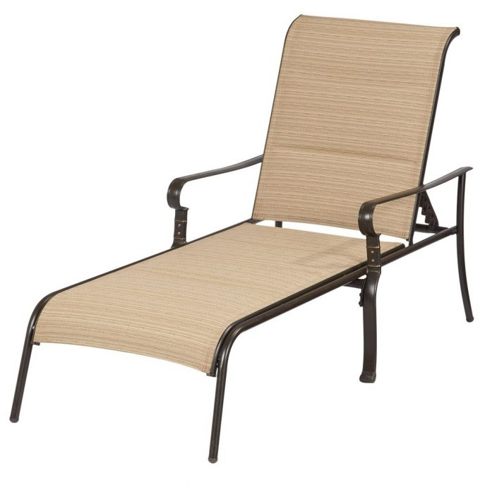 Outdoor Chaise Lounge Chairs With Regard To Well Known Outdoor : Chaise Lounge Chairs Lowes Outdoor Patio Chaise Lounges (Gallery 10 of 15)