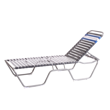 Outdoor Chaise Lounge Regarding Preferred Vinyl Strap Chaise Lounge Chairs (View 9 of 15)