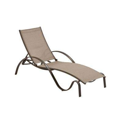Outdoor Chaise Lounges – Patio Chairs – The Home Depot With Regard To Newest Sling Chaise Lounge Chairs For Outdoor (View 6 of 15)
