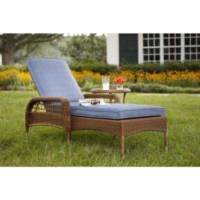 Outdoor Chaise Lounges – Patio Chairs – The Home Depot With Regard To Well Known Grey Wicker Chaise Lounge Chairs (View 12 of 15)