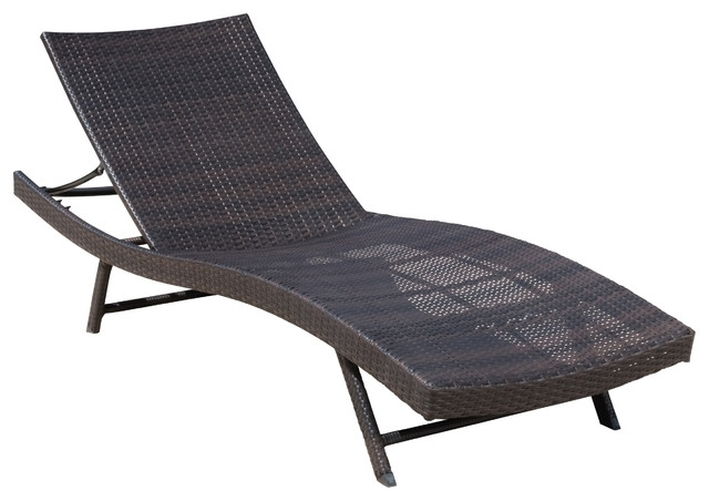 Outdoor Chaise Lounges With Widely Used Excellent Eliana Outdoor Brown Wicker Chaise Lounge Chair (View 12 of 15)