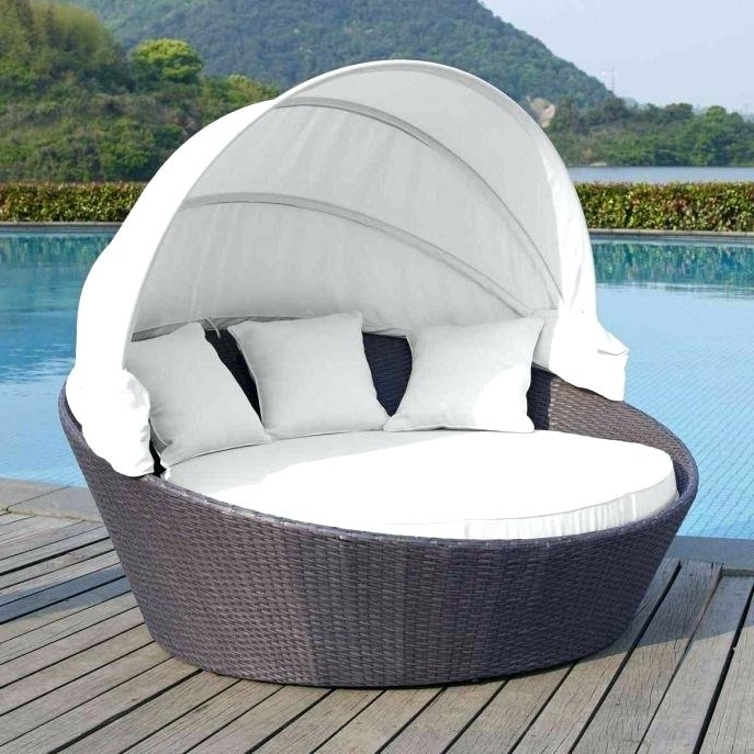 Outdoor Double Chaise Lounge With Canopy Outdoor Double Chaise Within Recent Outdoor Chaise Lounge Chairs With Canopy (Gallery 11 of 15)