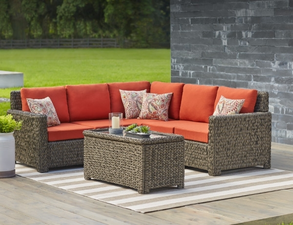 Outdoor Lounge Furniture – The Home Depot Pertaining To Popular Chaise Lounge Sets (View 14 of 15)
