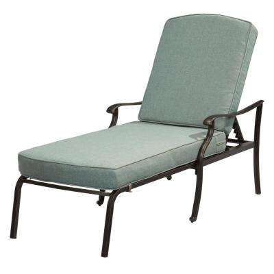 Outdoor Metal Chaise Lounge Chairs Inside Popular Black – Outdoor Chaise Lounges – Patio Chairs – The Home Depot (View 9 of 15)