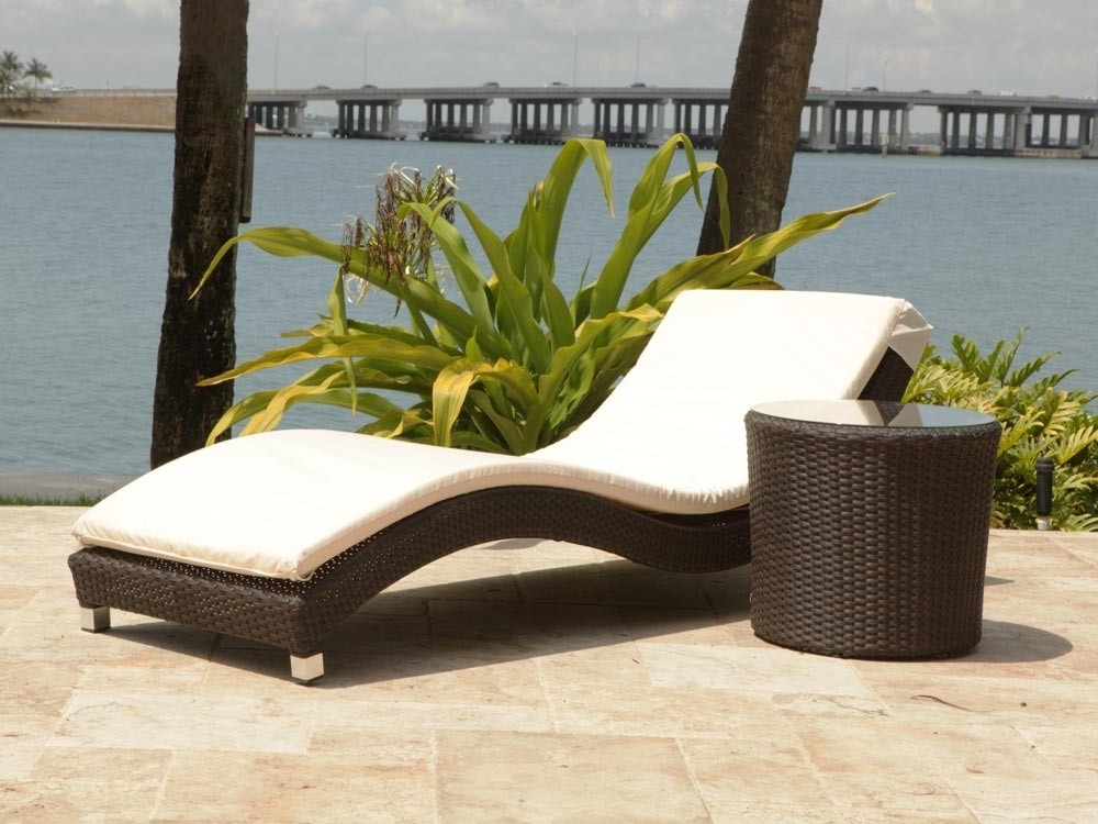 Outdoor Wicker Chaise Lounges Inside Latest Source Outdoor Wave 2 Piece Wicker Chaise Lounge Set – Wicker (Gallery 1 of 15)