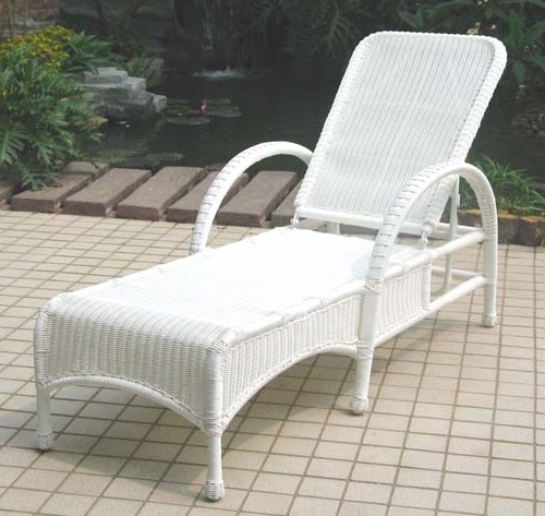 Outdoor Wicker Chaise Lounges Pertaining To Popular Summerset Adjustable Outdoor Wicker Chaise Lounge, All About Wicker (View 10 of 15)
