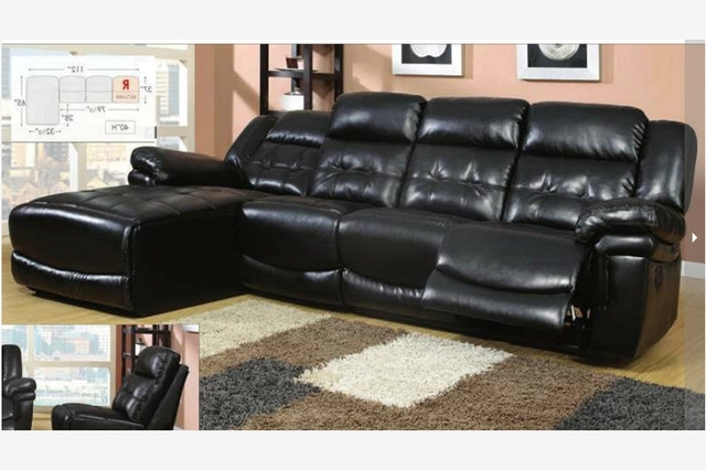 Outstanding Black Leather Reclining Sectional Sofa Black Leather Within Famous Black Leather Sectionals With Chaise (Gallery 5 of 15)