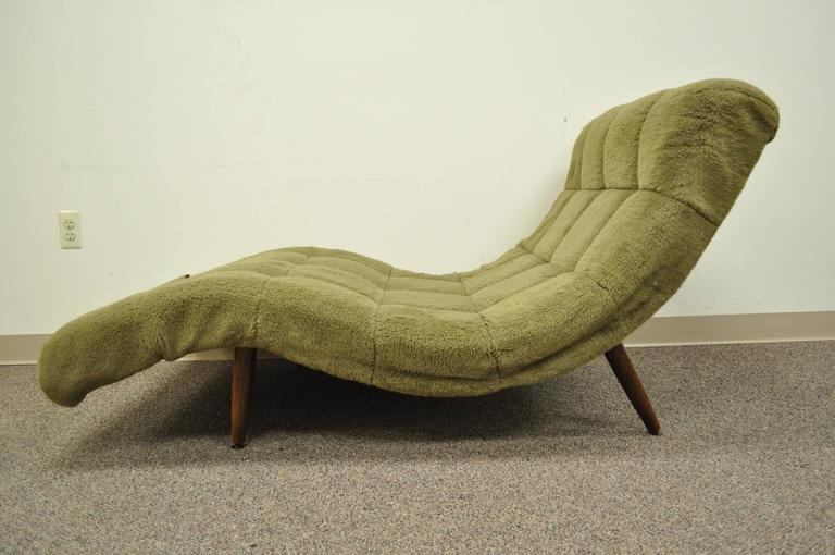 Outstanding Midcentury Modern Double Wide Wave Chaise Lounge In For Latest Mid Century Modern Chaise Lounges (View 12 of 15)