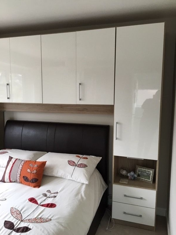 Overbed Wardrobes Within Famous Double Wardrobe With Over Bed Storage Units Excellent Condition (View 6 of 15)