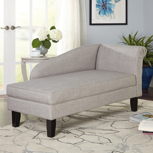 Overstock Chaise Lounges Intended For Well Known Simple Living Chaise Lounge With Storage Compartment – Free (View 2 of 15)