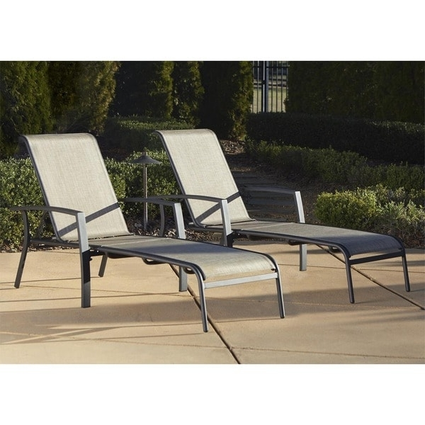 Overstock Outdoor Chaise Lounge Chairs Intended For Well Known Cosco Outdoor Aluminum Chaise Lounge Chair (Set Of 2) – Free (View 9 of 15)