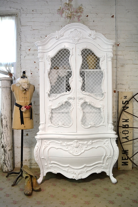 [%Painted Cottage Chic Shabby White Vintage French Armoire [Am45 Regarding Preferred Antique French Wardrobes|Antique French Wardrobes Pertaining To Preferred Painted Cottage Chic Shabby White Vintage French Armoire [Am45|Most Recent Antique French Wardrobes Throughout Painted Cottage Chic Shabby White Vintage French Armoire [Am45|Most Current Painted Cottage Chic Shabby White Vintage French Armoire [Am45 Within Antique French Wardrobes%] (View 1 of 15)