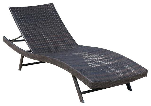 Patio Chaise Lounges Outdoor Brown Wicker Chaise Lounge Chair Throughout Well Known Black Outdoor Chaise Lounge Chairs (View 8 of 15)
