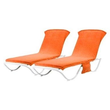 Patio Orange Chaise Lounge Towel Cover – Set Of 2 : Target For Preferred Chaise Lounge Towel Covers (View 12 of 15)