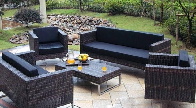 Patio Sofas Throughout Famous Furniture : Impressive Sofa Outdoor Furniture Patio Tropical Sofas (View 6 of 10)