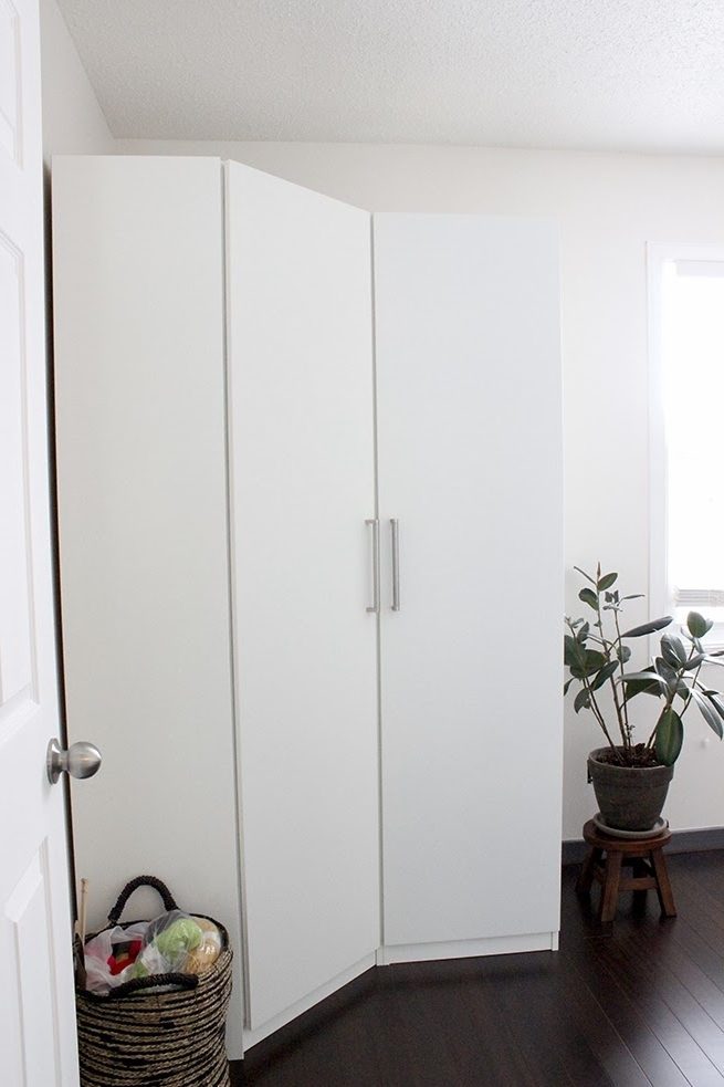 Pax Corner Wardrobe Ikea White — Farmhouse Design And Furniture With Regard To Best And Newest White Corner Wardrobes (View 5 of 15)
