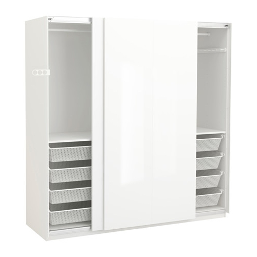 "Pax Wardrobe – 78 3/4X26X79 1/4 "" – Ikea Pertaining To Popular White High Gloss Wardrobes (View 8 of 15)"