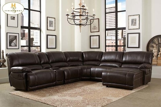 Perfect Leather Recliner Sectional Sofa Sofa And Recliner Sets All Regarding Latest Sectionals With Chaise And Recliner (View 4 of 15)